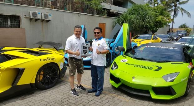 Uji Performa Fastron Platinum, Pertamina Ajak 55 Unit Lamborghini Touring Bali