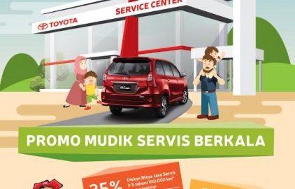 Sambut Mudik Lebaran, Toyota Gelontor Diskon Service